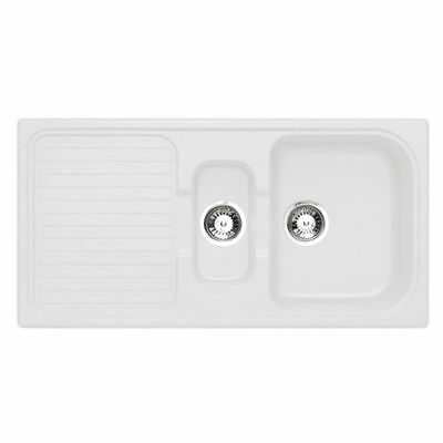 Astracast 1.5 Bowl Composite Kitchen Sink Opal White