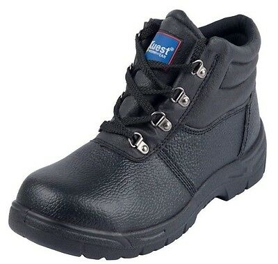 Black Chukka Safety Work Leather Boots Steel Toe Caps & Midsole Protection UK