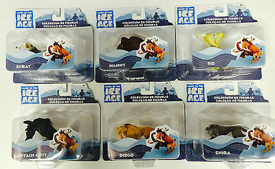 MADE IN THE ICE AGE 6 x FIGURES CONDINENTAL DRIFT COLECCION DE FIGURAS COLECAO!!