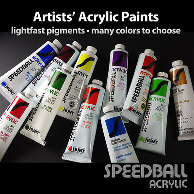 Artists' Acrylic Paints from $2.99!  Lightfast Pigments, Many Colors!