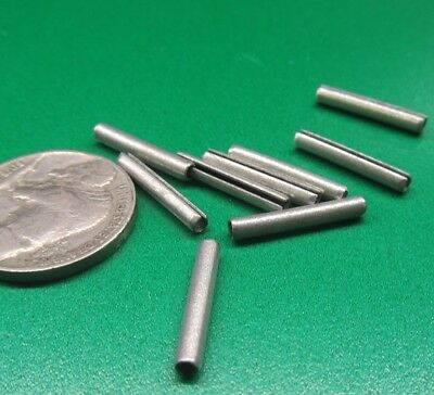 """Zinc Plate Steel Slotted Roll Spring Pin, 3/32"""" Dia x 5/8"""" Length, 500 pcs"""