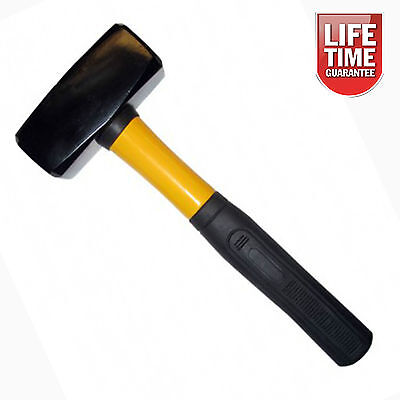 1.8kg - 4lb Heavy Duty Fibreglass Club Hammer Lump Sledge Hand Tool SOFT GRIP