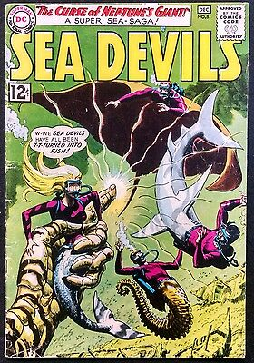 Sea Devils 1962 #8 Vg/fn Solid Bright Neptune's Giant,sea Devils Turned To Fish
