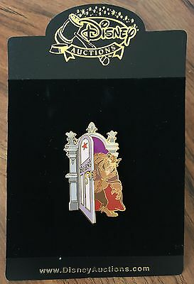 Disney Auctions Beauty and the Beast Dressing Room Door Pin LE 500 NEW ON CARD