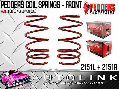 Pedders Front Lowered Coil Springs Pair Suit Holden Commodore Vr Vs Vt Vx Vy Vz
