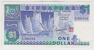 (H12-73) 1987 Singapore $1 Bank note (A)