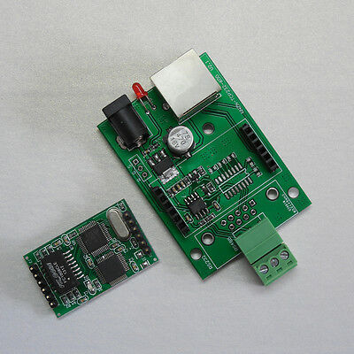 Serial RS485 to Ethernet TCP/IP Converter RJ45 Serial Port Serve 8Bits Process