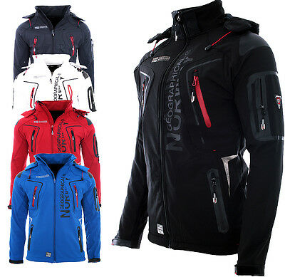 Geographical Norway giacca Softshell Uomo pioggia sport Outdoor Autunno giacca