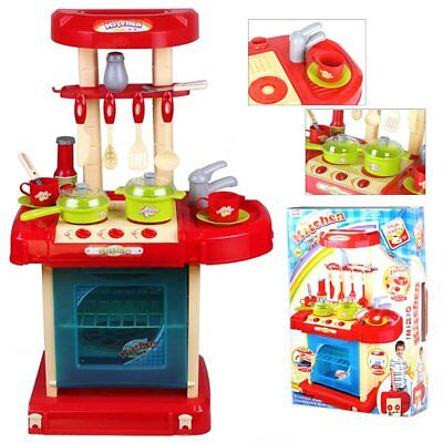 Toy Kitchen Toddler Children's Kids Role Play Cooker Set Portable + Accessories