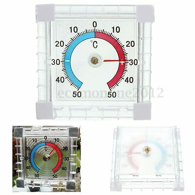 Window Indoor Outdoor Wall Greenhouse Home Office Temp Temperature Thermometer