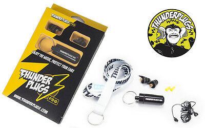 Thunder Plugs PRO Ear Plugs Ear Protectors 26 DB Noise Reduction FREE Case Strap