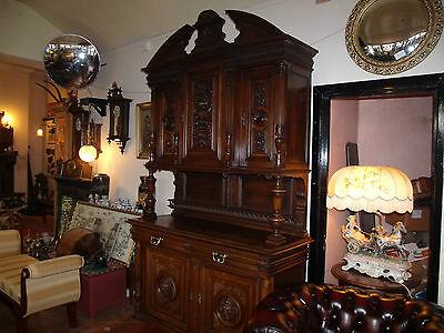 french carved Hunters cabinet sideboard