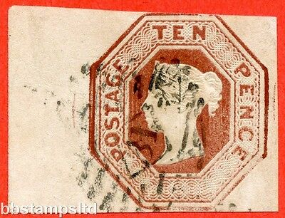 SG. 57. H2 (2). 10d deep brown. Die 2. A fine used left hand marginal example.