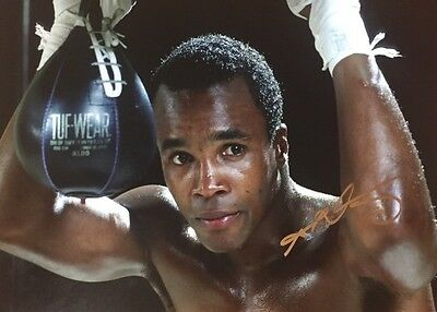 Sugar Ray Leonard Signed Poster 16x12 Huge Photo WBC World Champion COA