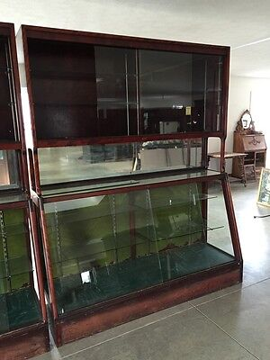 Two Available Antique Good Fixtures Store Display Counters