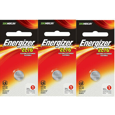 3 Pack Energizer Everready 3.0 Volt Photo Battery 2L76BP