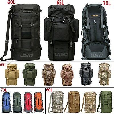 Large Adjustable Military Rucksacks Backpack Tactical Outdoor Hiking Camping bag