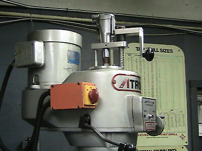 Bridgeport  Milling Machine Power Feed Power Drawbar Tool Changer Mill