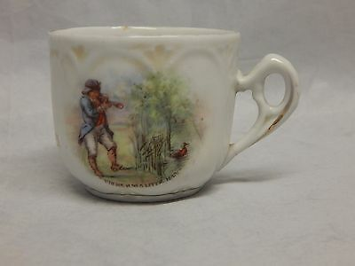 Antique Porcelain Mug Fairy Tales Cup There Was a Little Man