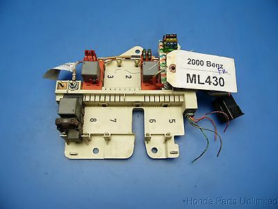 98-01 benz w163 ml oem engine motor fuse box with fuses & relays p