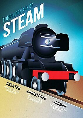 GOLDEN AGE OF STEAM TRAIN - Vintage Poster Print Sizes A5 to A0 **FREE DELIVERY*