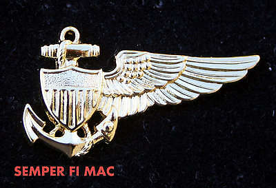 Balloon Pilot Wing Pin Up Made In The Us Navy Usn  Gift Blimp Dirigible Airship