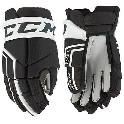 New Ccm 24K Gloves Size Junior Colour Black