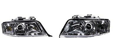Audi A6 1997-2001  Headlight Headlamp  1 X Pair Right And Left O/s N/s
