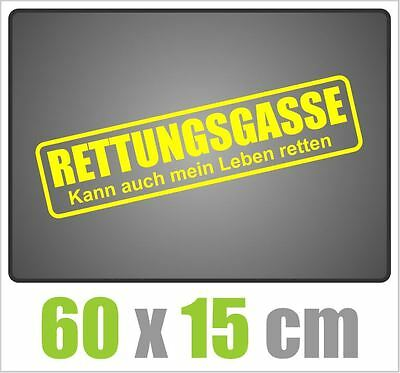 rettungsgasse sticker aufkleber tuning auto 60cm x 4cm. Black Bedroom Furniture Sets. Home Design Ideas
