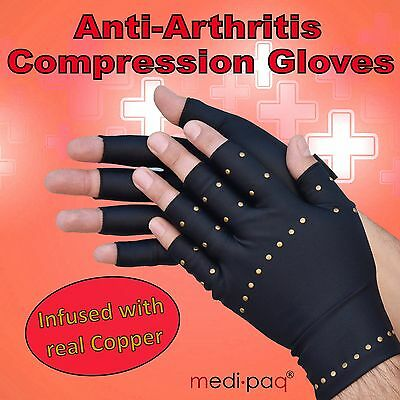 Medipaq® Anti Arthritis Copper Compression Gloves Hand Therapy Rheumatoid Pain