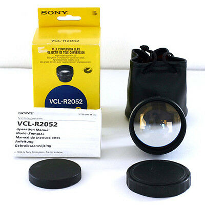 Brand New Sony VCL-R2052 Telephoto Conversion Lens (2x Tele) for 52mm Camcorders