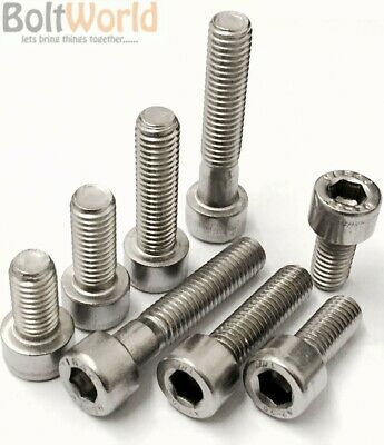 M5 / 5mm A4 MARINE GRADE STAINLESS STEEL SOCKET CAP SCREWS, ALLEN KEY HEAD BOLTS