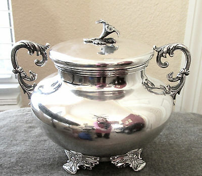 Antique Taylor & Lawrie Coin Silver Covered Sugar Bowl 1832-1846