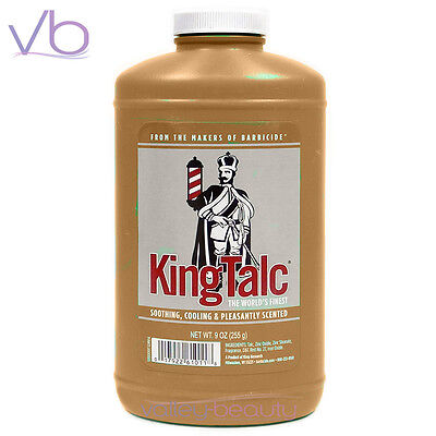 KING RESEARCH, King Talc 9oz,  Soothing Cooling Scented Body Powder, Barbicide