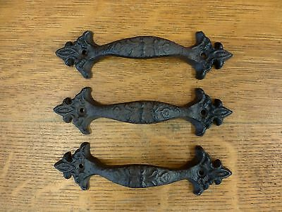 Group 3 Brn Antique-Style Cast Iron Decorative Drawer Door Cabinet Pull Handle