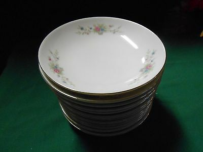 Beautiful Collectible FLORENTEEN Fine China FANTASIA Set of 12 BERRY BOWLS