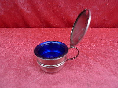 classy,age Mustard Pot__925 Sterling Silver__With Glass Insert