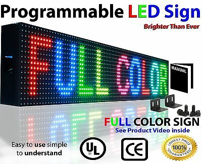 """Indoor Full Color 10mm Led Sign Programmable Scrolling Screen Display  7"""" x51"""""""