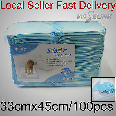 100pcs Pet Dog Cat Puppy Super Absorbent Wee Toilet Training Diaper Pads 33x45cm