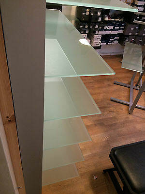 Wall Fixture Glass Shelving For Shop Fit White