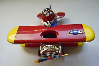 M&Ms Barnstorming Red Yellow Collectible Chocolate Candy Bi-plane Dispenser