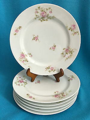 HAVILAND LIMOGES FRANCE ~ ANTIQUE DINNER PLATE ~ Pink Flowers ~ Many Available