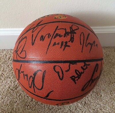 2015/2016 Cleveland Cavaliers Team Signed Full Size Basketball Irving / Love