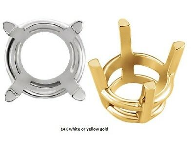 2m - 18mm Round 14K Gold Basket Head Settings Cast In Metal Mold Top quality