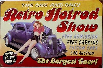Retro Hot Rod Show  Tin Sign  W 600X H 400