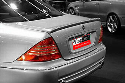 Fits: Mercedes S-Class 1999-2006 Painted Factory Lip Mount Rear Spoiler