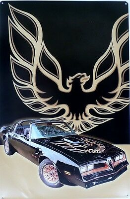 Trans Am This Tin Sign Is A Second It Has A Crease Bottom Lh Cnr  H 600X W 400
