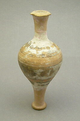 Antique Ancient Greek Terra Cotta Pottery Perfume Ointment Vessel Flask