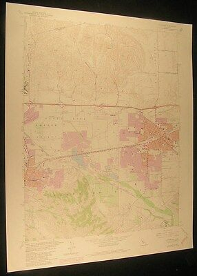 Livermore California Amador Valley 1981 vintage USGS original Topo chart map