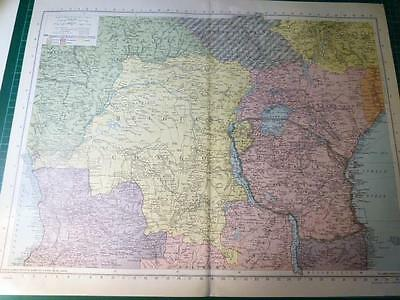 Map From Philip's Atlas 1945 - Central Africa .....117-18/45